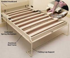 Aluminum Bed Frame 4369 Best Murphy Bed Ideas Ikea Rooms Images On Pinterest Throughout