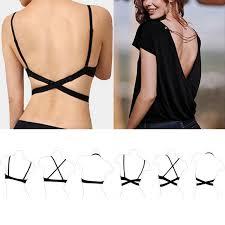 v neck low back backless magic bra strap adapter converter