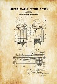 jacques cousteau diving suit patent patent print wall decor
