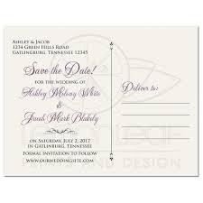 save the date postcard vintage mauve purple wedding save the date postcard