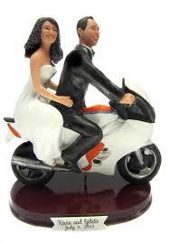 motorcycle wedding cake topper custom bike motorcycle wedding cake topper