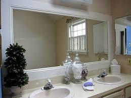 frameless bathroom mirror clips frame decorations