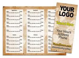 takeout menu template restaurant menu printing palmetto bradenton sarasota