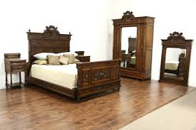 French Louis Bedroom Furniture by French Louis Xvi Antique 1890 Carved Bedroom Set Queen Size Bed