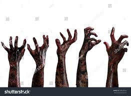 halloween white background blood zombie hands on white backgroundzombie stock photo 306628925