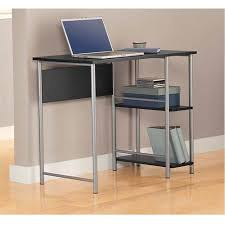 Rolling Computer Desk Glass And Silver Colored Metal 119 Lil Small