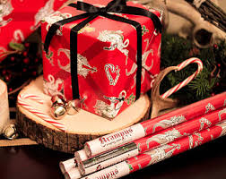 thick christmas wrapping paper handmade wrapping paper etsy