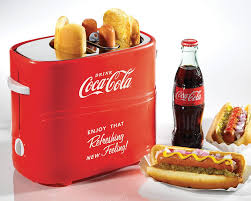 How Long To Cook Hotdogs In Toaster Oven Amazon Com Nostalgia Hdt600coke Coca Cola Pop Up Dog Toaster