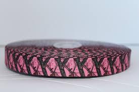 realtree camo ribbon camo medium pink grosgrain ribbon 7 8 y tree branches