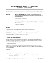 web site development and service agreement template u0026 sample