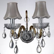 crystal sconces for bathroom 2 light fabric shade crystal rustic wall sconces for bathroom