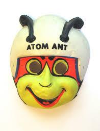 vintage 1965 atom ant halloween mask ben cooper plastic mask