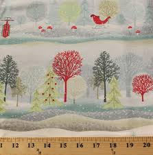 cotton trees sleigh ride sleds snow snowing snowflakes