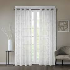 White Silk Curtains Buy Silk Curtain Panels From Bed Bath Beyond