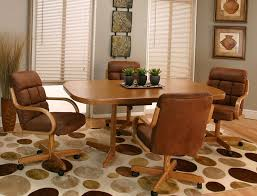 Dining Room Sets With Wheels On Chairs New Swivel Tilt Dining Dinette 4 Chairs On Casters And Table Set