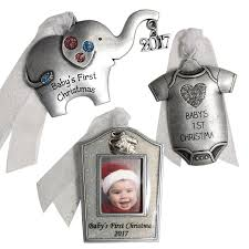 shop gloria duchin 3 pack pewter baby s ornament