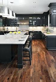 kitchens with grey hardwood floors cherry cabinets with wood