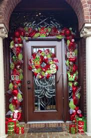 deco mesh garland around front door wreaths pinterest deco