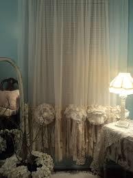 2 sheer u0026 vintage lace curtain panels window treatment shabby