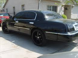 lincoln town car with black rims on lincoln images tractor
