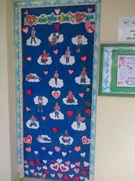 christmas tree classroom door decorations fireplace for the