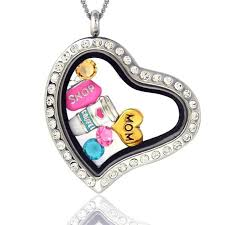 floating heart pendant necklace images Heart shaped locket necklace clipart jpg