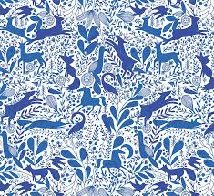 blue wrapping paper bec enchanted wood christmas wrapping paper five sheets by paper