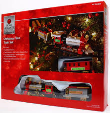 home accents holiday christmas tree train set 9 ft track nib ebay