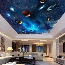 chambre enfant espace univers espace planète nuit ciel étoiles photo murale pour enfants