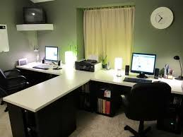 Desks For Office At Home Two Person Desk Design Ideas For Your Home Office Wall Clocks