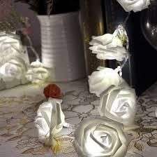 Wedding Garden Decor Aliexpress Com Buy Romantic 20 Led Lighting Rose Flower String