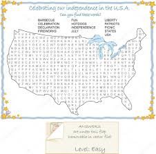 Usa Puzzle Map by Usa Map Wordfind Puzzle U2014 Stock Vector Candywrap 10669184