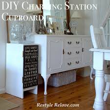 diy charging station cupboard