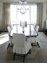 Slip Covers Dining Room Chairs Slipcovered Dining Room Chairs Project For Awesome Photos Of