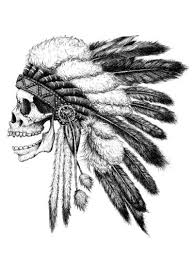 best 25 indian skull tattoos ideas on pinterest indian skull