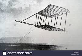 wright glider no1 being flown as a kite at kitty hawk the wright