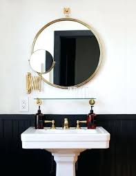 brass bathroom mirror good white bathroom mirror or white black and brass the dean hotel