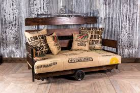 industrial sofa upcycled two seater sofa