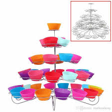5 tier cupcake stand 5 tier cup cake stand wedding birthday dessert display party metal