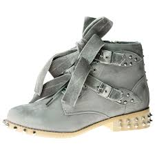 heeled biker boots womens shoes ladies biker boots ankle velvet bow ribbon buckle