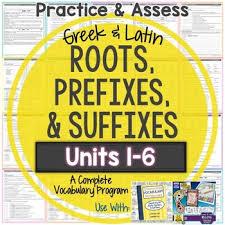 greek and latin roots worksheets and tests units 1 6 huge bundle