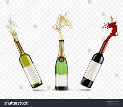 cartoon beer no background vector bottles champagne wine splash on stock vector 569033563