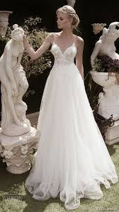 flowy wedding dresses picture of illusion v neckline lace wedding dress with a flowy skirt