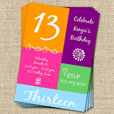 Birthday Party Invitation Cards Free Printable Fine Free Printable 13th Birthday Party Invitations Given