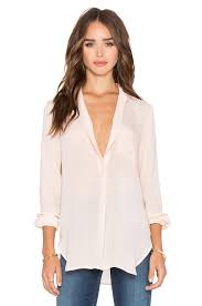popover blouse vince sleeve pocket popover blouse in buff revolve