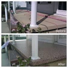 Outdoor Concrete Patio Paint Before And After Of Cement Porch Painted With Epoxy Paint For
