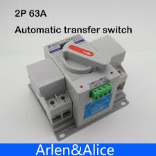 aliexpress com buy 2p 63a 230v mcb type dual power automatic