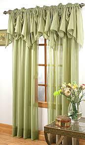 Green Valance Splendor Sheer Batiste Curtain U2013 Olive Green Stylemaster View