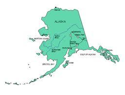 alaska major cities map alaska us state powerpoint map highways waterways capital and