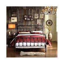 king size bed frame metal antique wrought iron victorian headboard